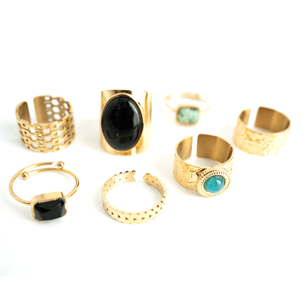 Made by Mila | Verstelbare gouden ring staafje- ZAG Bijoux 3