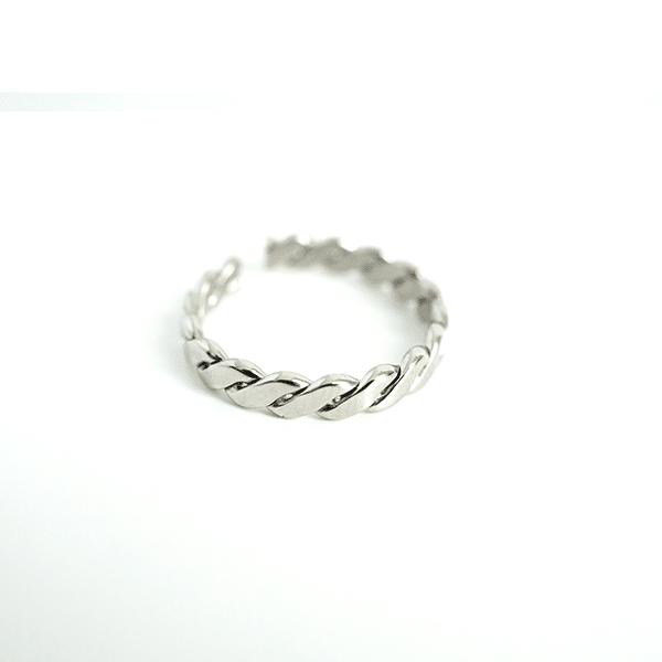 Made by Mila | Verstelbare gedraaide zilveren ring- ZAG Bijoux 1