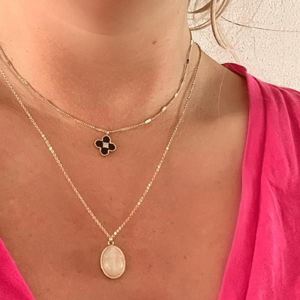 Made by Mila | Ketting rose quarts lang - ZAG Bijoux 2