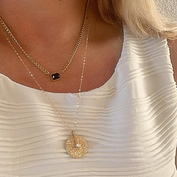 Made by Mila | Ketting onyx schakel - ZAG Bijoux 2