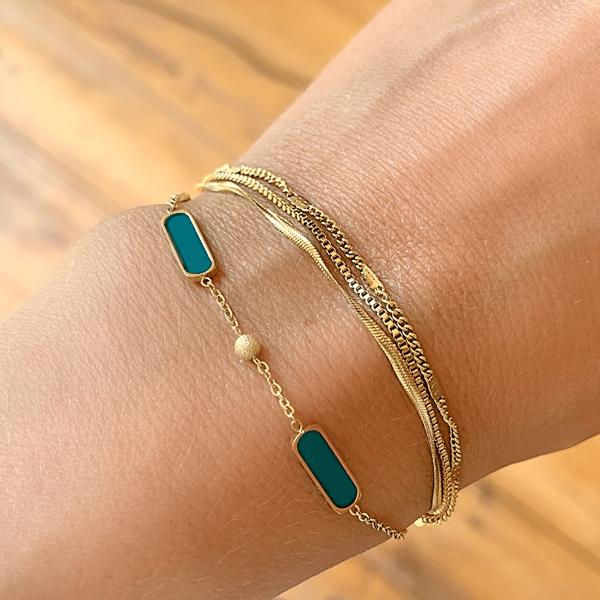 Made by Mila | Armband goud drie kettinkjes - ZAG Bijoux 3