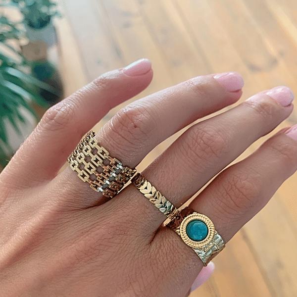 Made by Mila | Verstelbare brede gouden ring - ZAG Bijoux 1