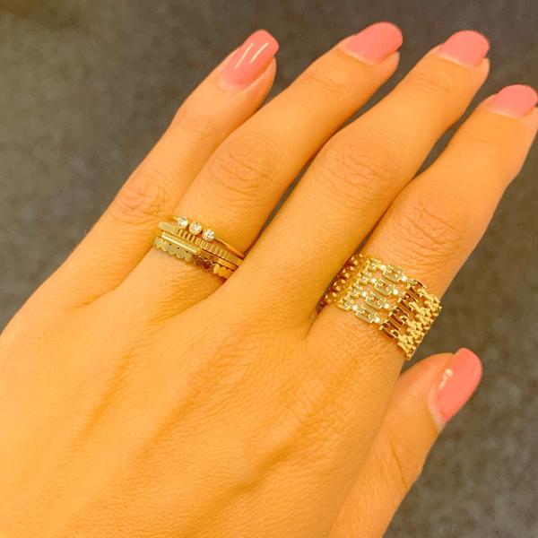 Made by Mila | Verstelbare brede gouden ring - ZAG Bijoux 3
