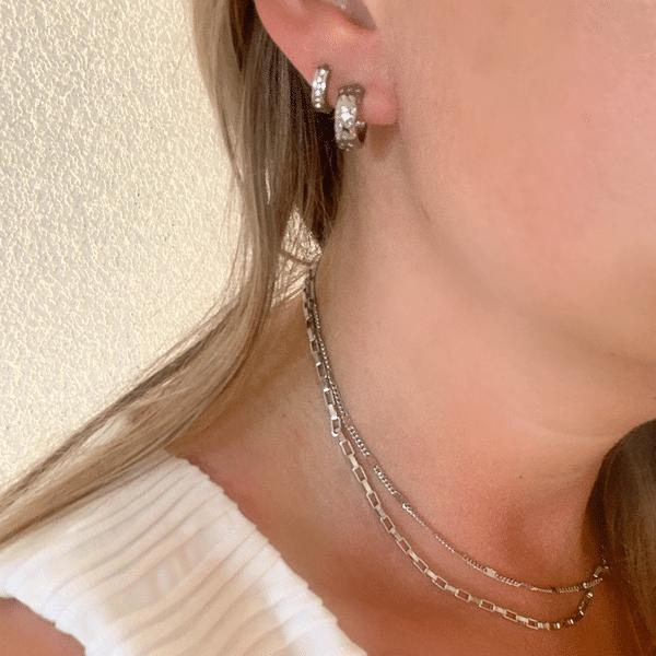 Made by Mila | Oorbellen zilver met sterretjes- ZAG Bijoux 2
