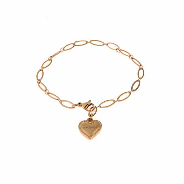 Made by Mila | Armband medium schakel goud hartje- Go Dutch Label 1