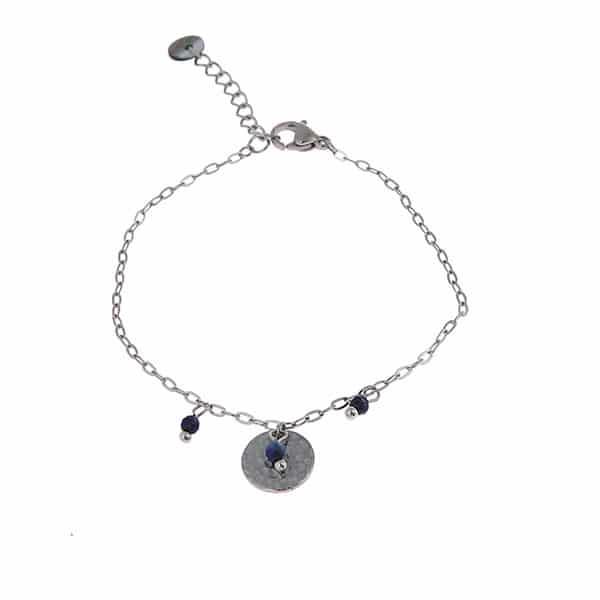 Made by Mila | Armband rondje zilver & blauw- Go Dutch label 1