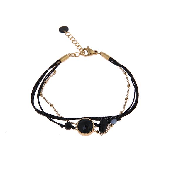 Made by Mila | Armband zwart goud- Go Dutch Label 1