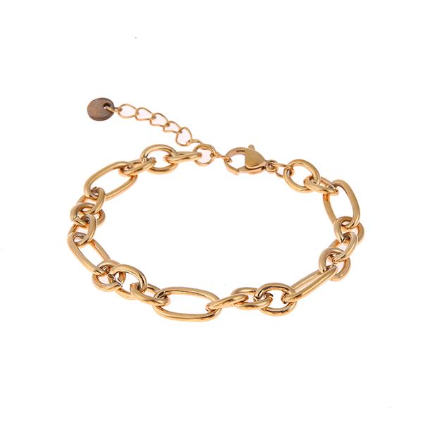 Made by Mila | Armband medium schakel goud - Go Dutch Label 1