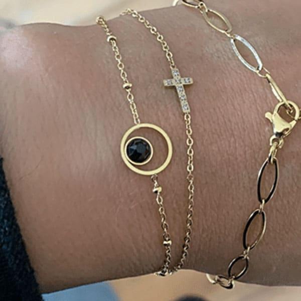Made by Mila | Armband rondje zwart goud- Go Dutch label 1