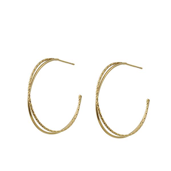 Made by Mila | Oorbellen 2 hoops goud - Go Dutch Label 1