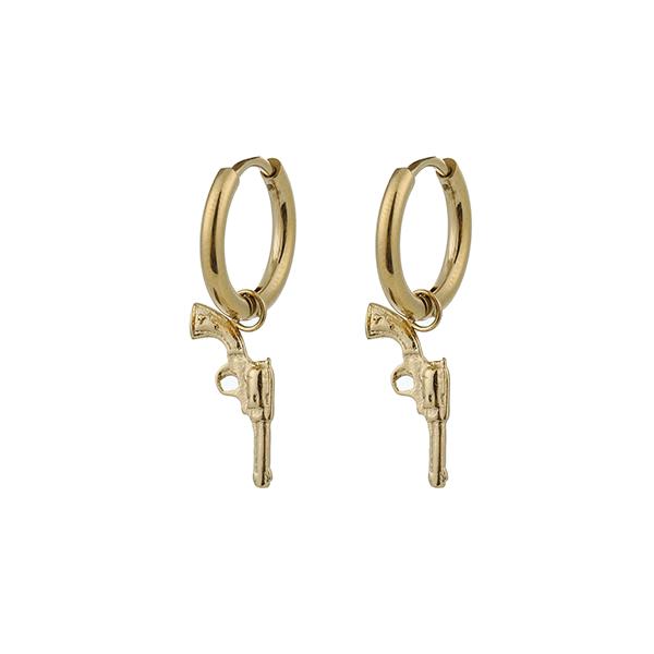 Made by Mila | Oorbellen hoops gun goud - Go Dutch Label 1