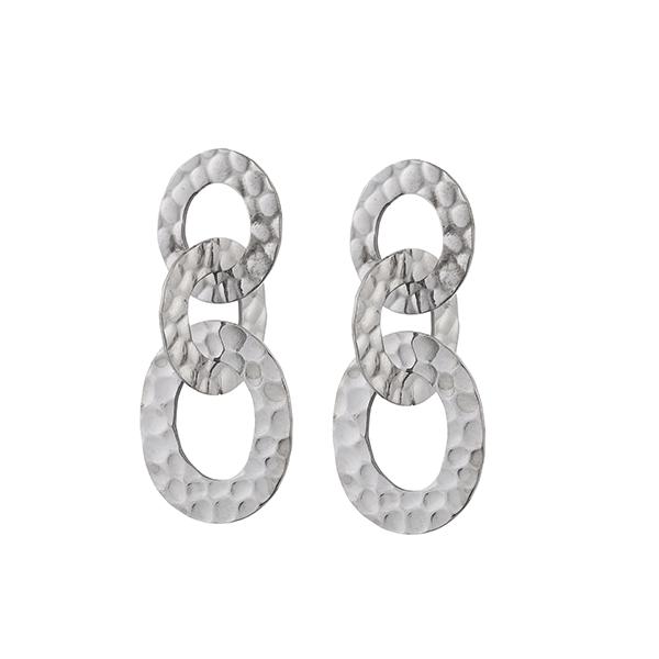 Made by Mila | Oorbellen 3 ringen zilver- Go Dutch Label 1