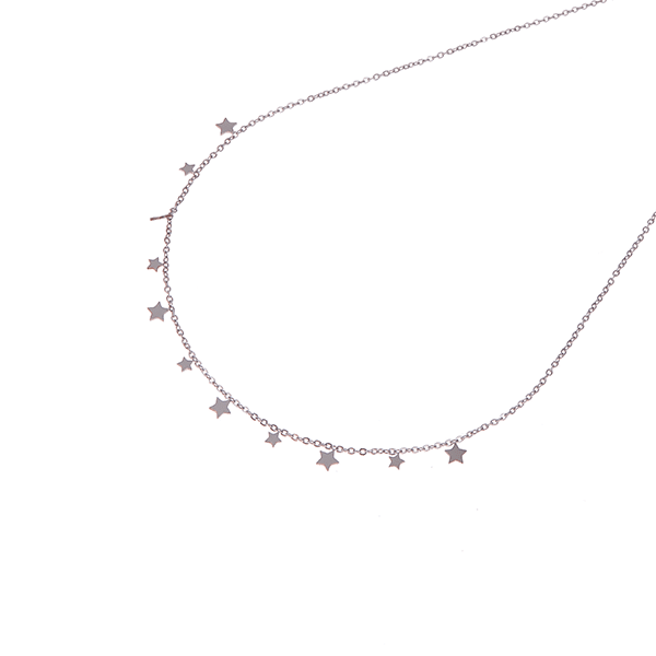 Made by Mila | Ketting zilver stars- Go Dutch Label 1