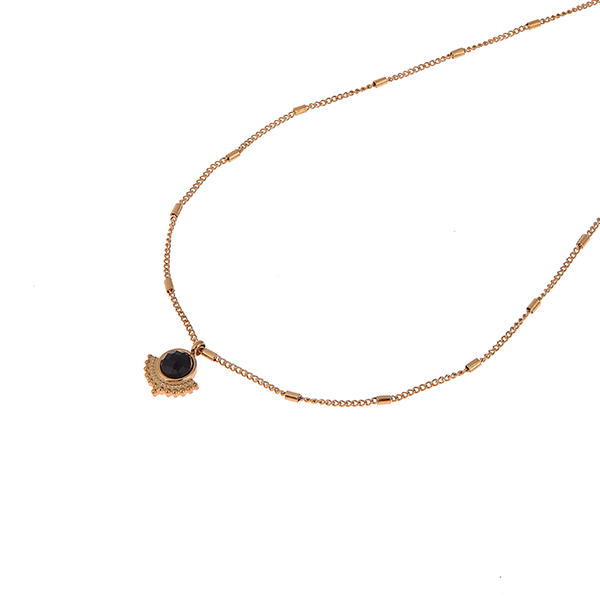 Made by Mila | Ketting goud black sun- Go Dutch Label 1