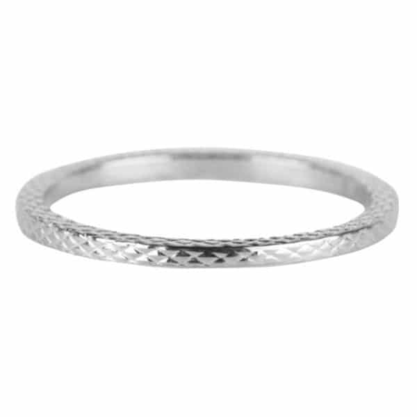 Made by Mila | Ring zilver 'Snake' - Charmin's 1