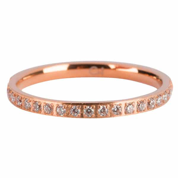 Made by Mila | Ring rose goud 'Crystals Steel'  - Charmin's 1