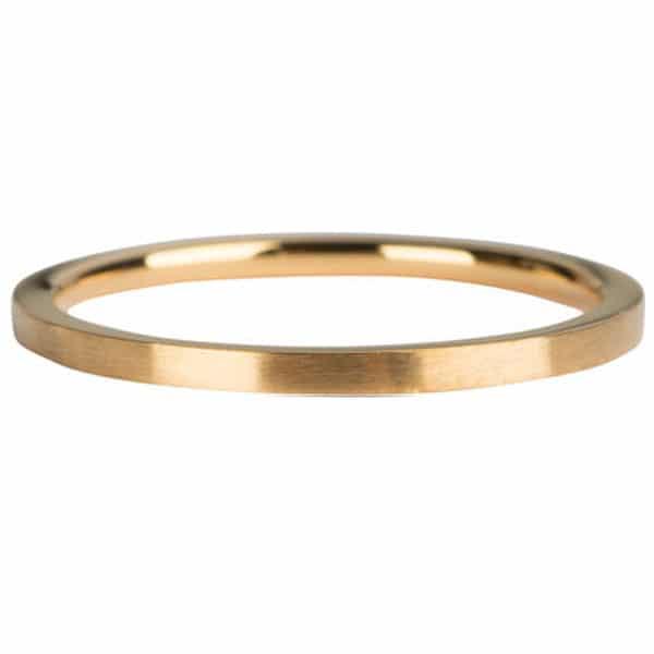Made by Mila | Ring goud 'Clean cut mat' - Charmin's 1