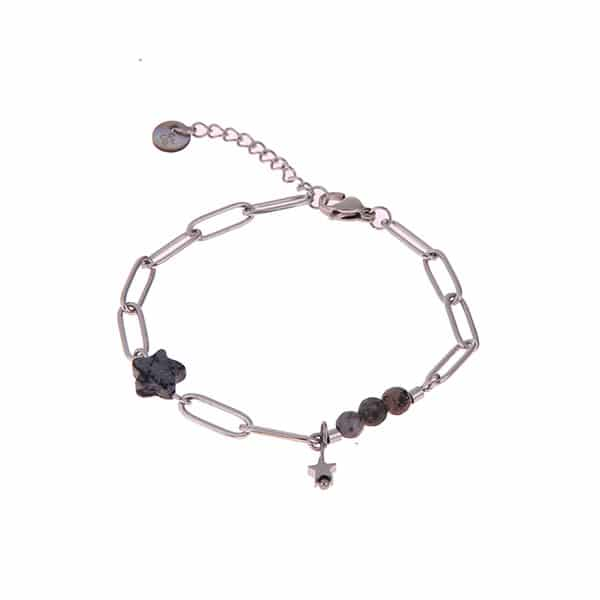 Made by Mila | Armband schakel zilver stars- Go Dutch Label 1