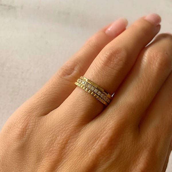 Made by Mila | Ring goud 'Shiny' - Charmin's 2
