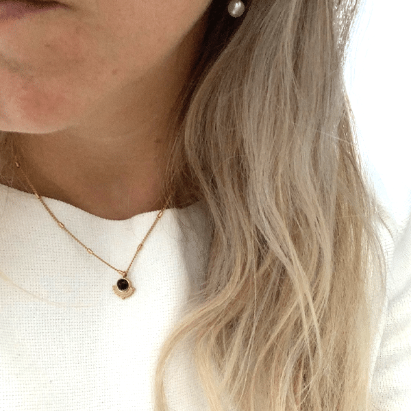 Made by Mila | Ketting goud black sun- Go Dutch Label 3