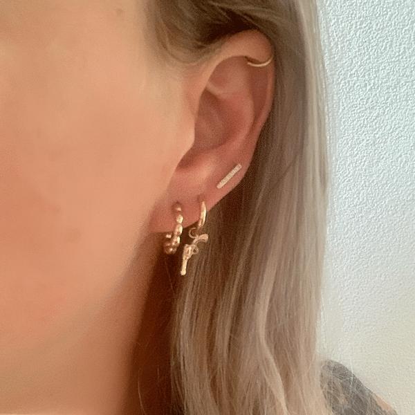 Made by Mila | Oorbellen hoops rondjes goud - Go Dutch Label 2