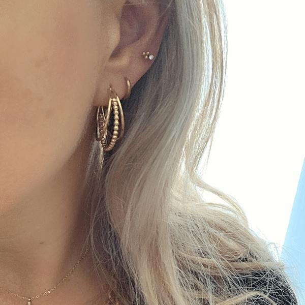 Made by Mila | Oorbellen 3 hoops goud - Go Dutch Label 1