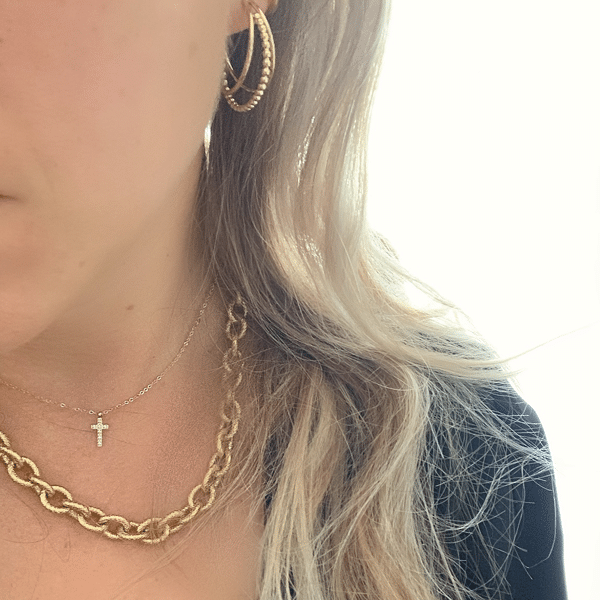 Made by Mila | Ketting grove schakel goud- Go Dutch Label 4