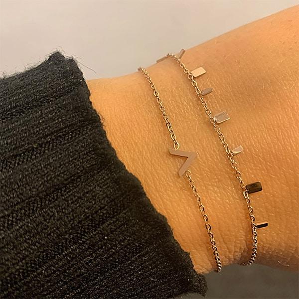 Made by Mila | Armband V rose goud - Go Dutch label 2