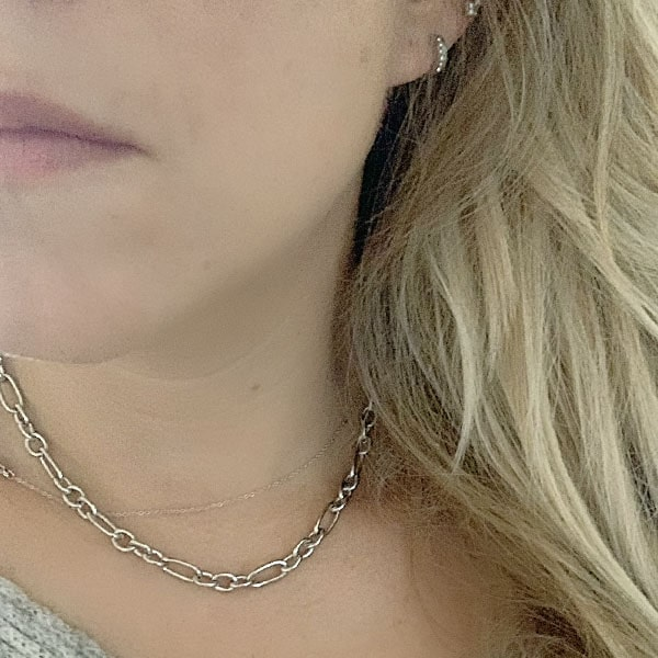 Made by Mila | Ketting dikke schakel zilver- Go Dutch Label 1