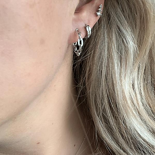 Made by Mila | Oorbellen chains rondjes zilver - Go Dutch Label 2
