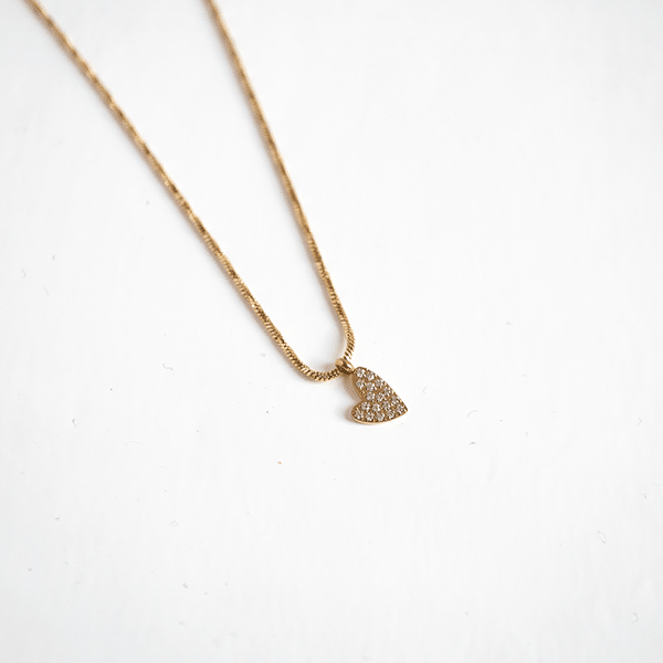 Made by Mila | Ketting heart zirkonia goud - ZAG Bijoux 1