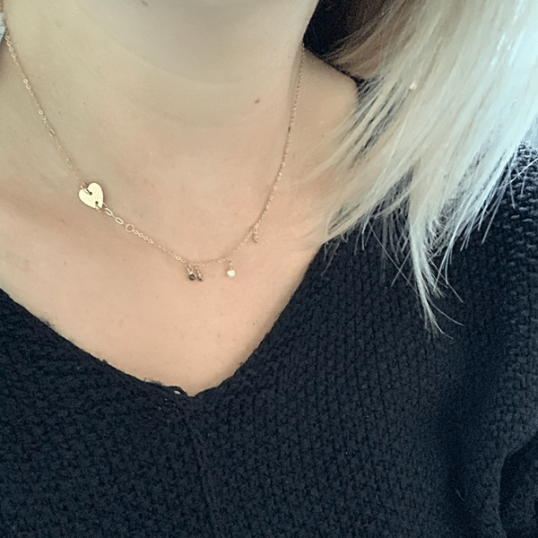 Made by Mila | Ketting pearls & heart goud - ZAG Bijoux 2