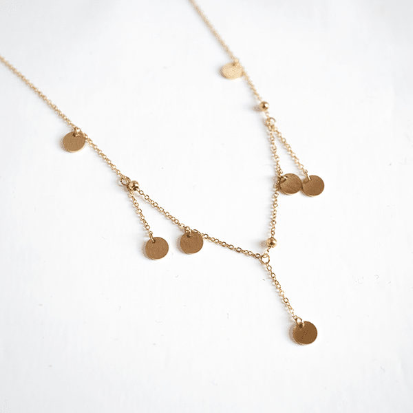 Made by Mila | Ketting hanger coins goud - ZAG Bijoux 1