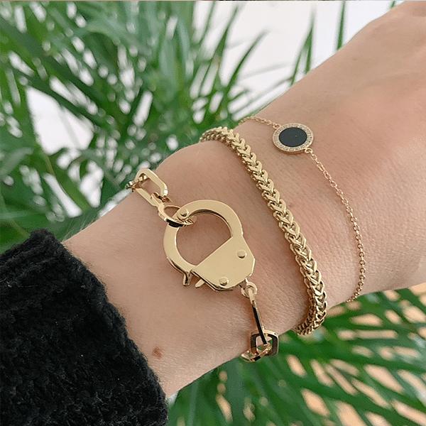 Made by Mila | Armband schakel goud cuff - ZAG Bijoux 2