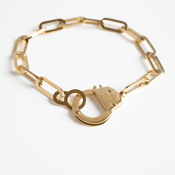 Made by Mila | Armband schakel goud cuff - ZAG Bijoux 1