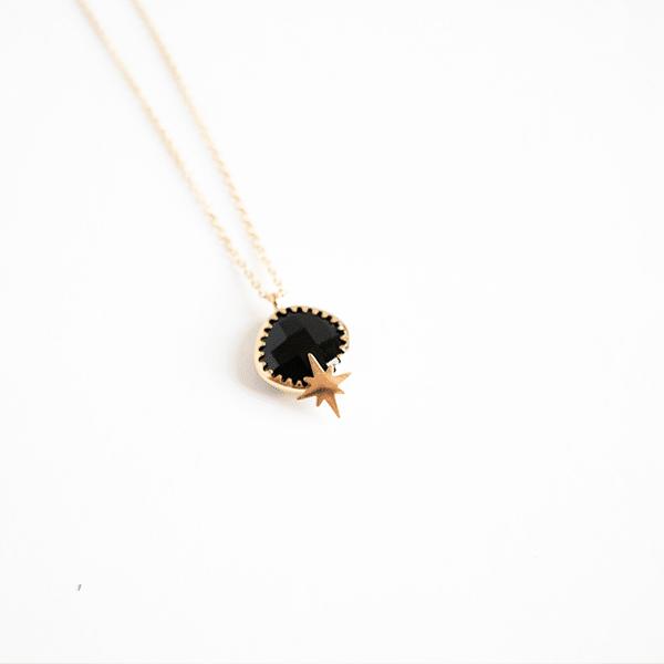 Made by Mila   Ketting lang black onyx - ZAG Bijoux 1