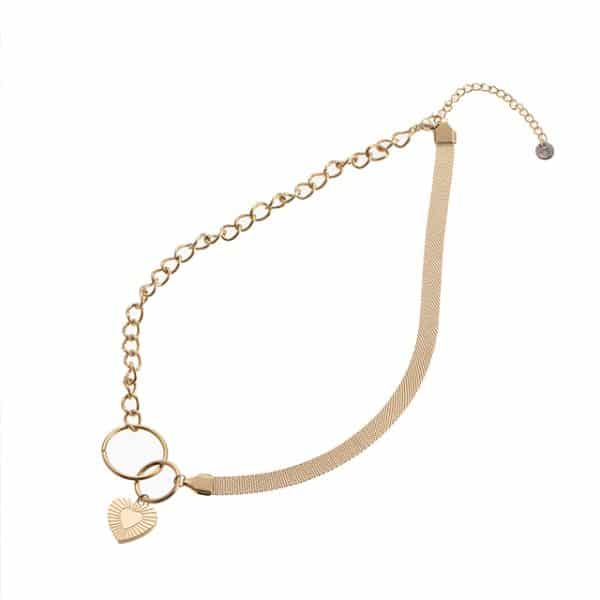 Made by Mila | Ketting infinity heart goud - Go Dutch Label 1