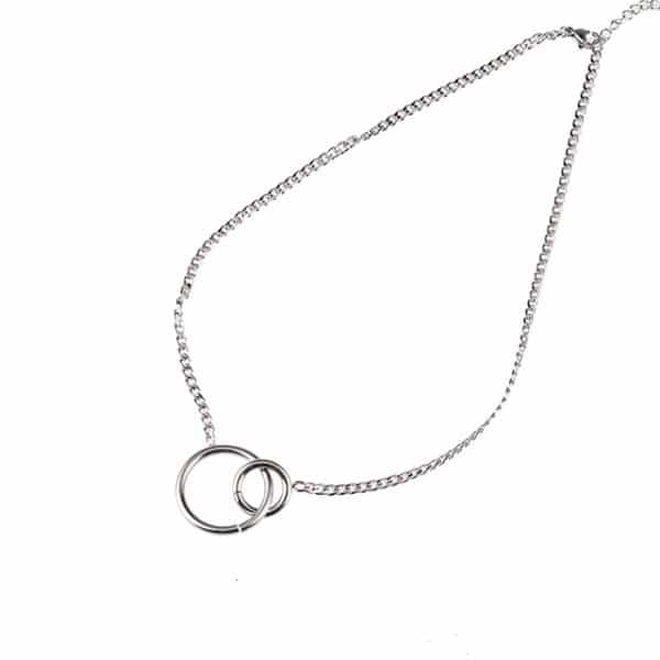 Made by Mila | Ketting infinity circles zilver - Go Dutch Label 1
