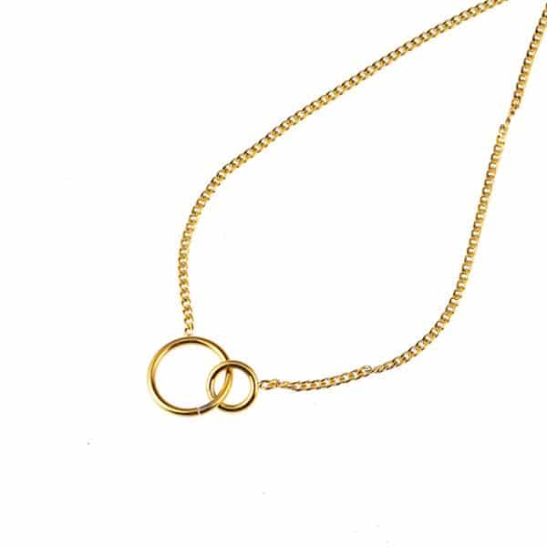 Made by Mila | Ketting infinity circles goud - Go Dutch Label 1