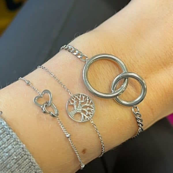 Made by Mila | Armband infinity zilver- Go Dutch label 2