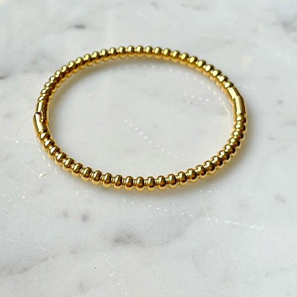 Made by Mila | Armband goud rondjes massief - ZAG Bijoux 1