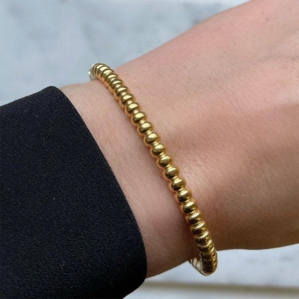 Made by Mila | Armband goud rondjes massief - ZAG Bijoux 2