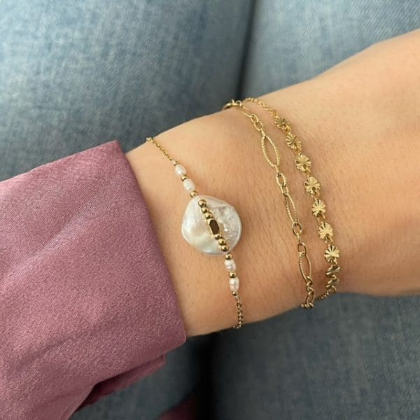 Made by Mila | Armband goud dubbel chains- Go Dutch label 2