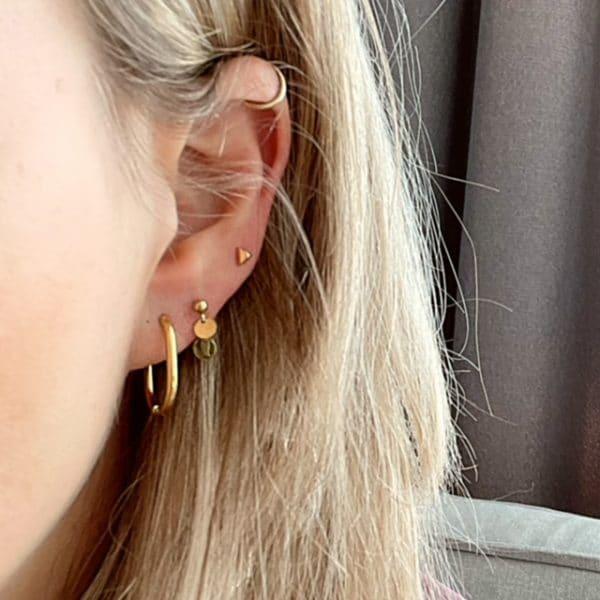 Made by Mila | Oorbellen ovale hoops goud - Go Dutch Label 2