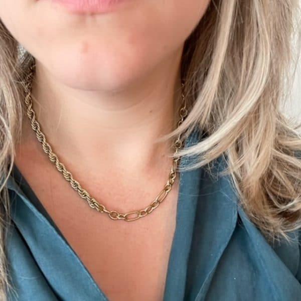 Made by Mila | Ketting schakel grof goud - Go Dutch Label 2