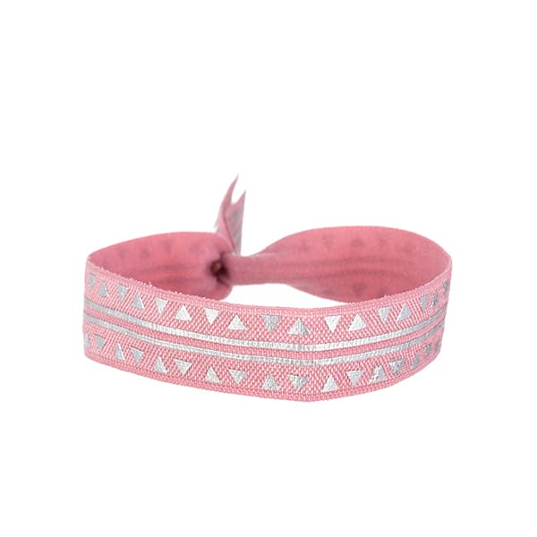 Made by Mila | Armband elastisch driehoek print roze- Go Dutch label 1
