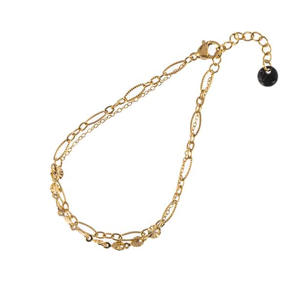 Made by Mila | Armband goud dubbel chains- Go Dutch label 1