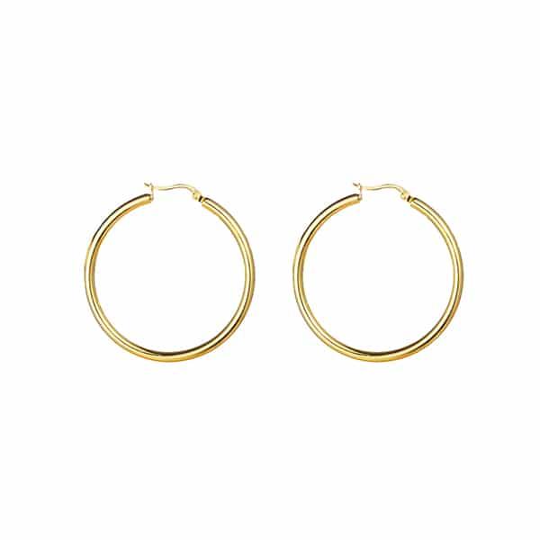 Made by Mila | Oorbellen brede hoops goud- Go Dutch Label 1