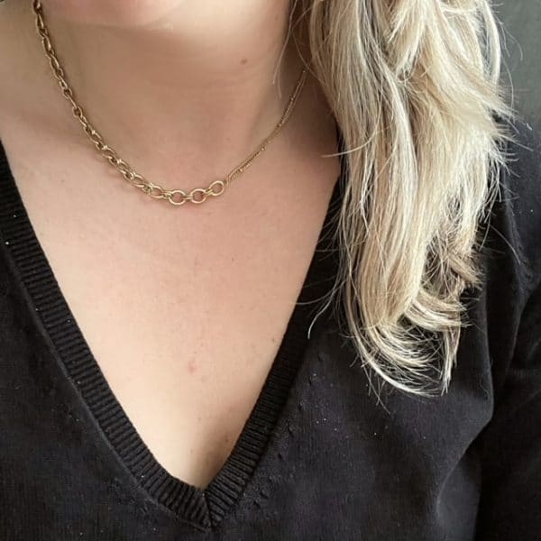 Made by Mila | Ketting schakel goud 2 schakels - Go Dutch Label 2