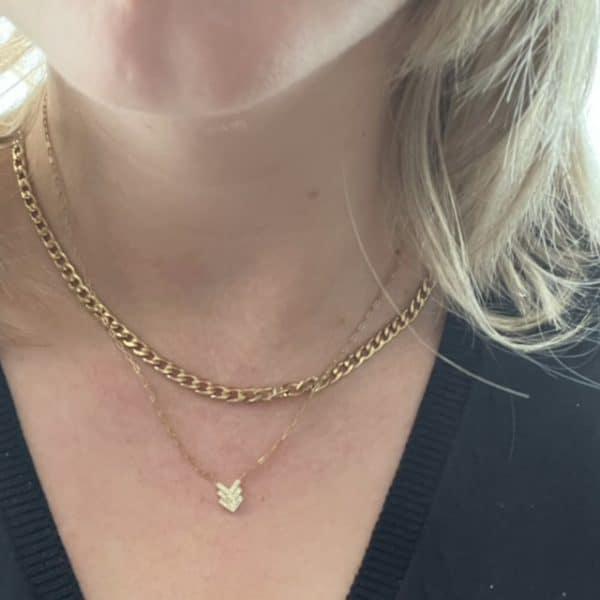 Made by Mila | Ketting schakel goud drie ingelegde pijltjes - Go Dutch Label 2